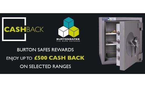 Barrington Security partner with Burton Safes for 1st ever done cash back offer