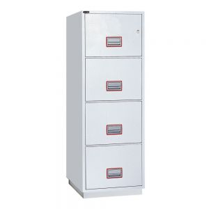 Securikey Fire Resistant 4x Drawer Filing Cabinet