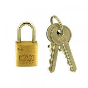 Ifam E-15 Brass padlock with 2 keys