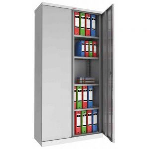 Phoenix SCL1891G Grey Keylock Steel Storage Cupboard